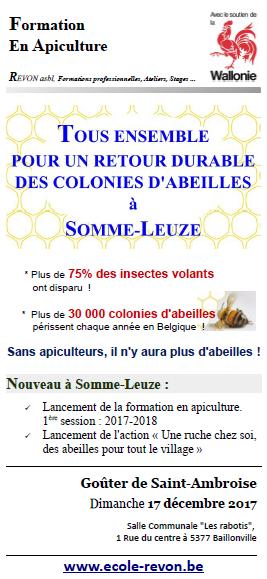 Retour durable des abeilles à Somme-Leuze